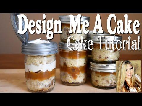 Video Mason Jar Cake Tutorial