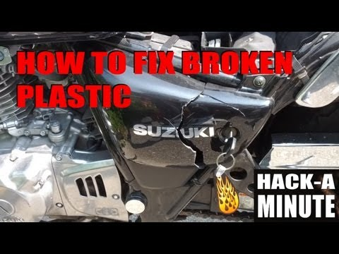 How to fix plastic using only Acetone!