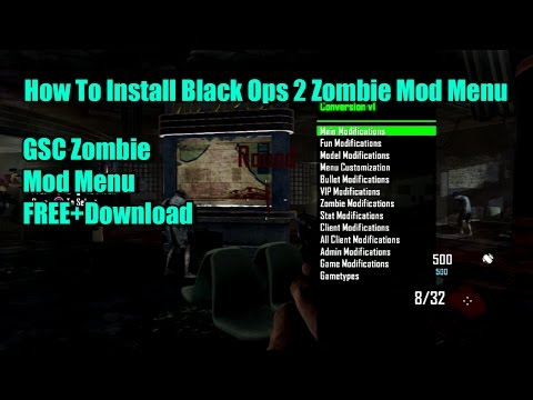 Black Ops 2 How To Inject Zombie GSC Mod Menu FREE+Download