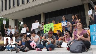 'Nurse-In' breastfeeding moms rally against Trump's immigration policy
