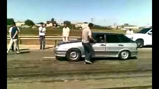 Ваз 21014 turbo 400 лс vs Mercedes CLK 63 BE AMG драг