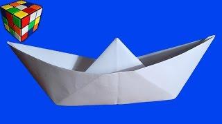 Как сделать лодку из бумаги пошагово