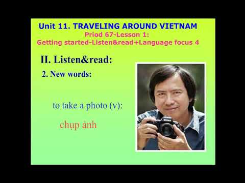 Tiếng Anh 8 - Unit 11: Lesson 1 Getting Started
