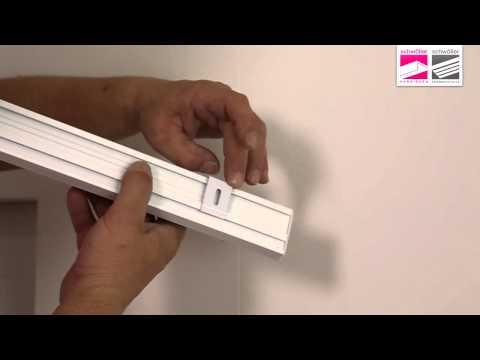 Flächenvorhang, Deckenmontage