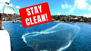 How to throw a cast net - BEST WAY - Any size, No Teeth, Stay Clean! (By Captain Cody)