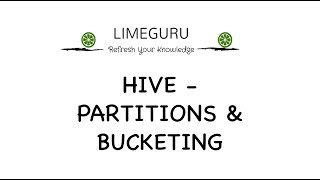 Hive Partition And Bucketing Explained -  Hive Tutorial For Beginners