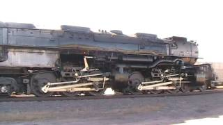 Union Pacific 3985 Challenger Accelerates Out Of Sidney, Nebraska. Great Sound.