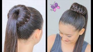 Peinado Con Trenza De Moño y Cascada | Peinados para Cabello Largo