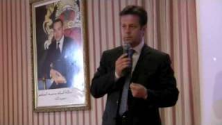 Carlos Moreira keynote at  the Hassan II Foundation in Morocco