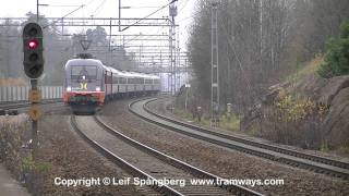 preview picture of video 'Hector Rail 242.503 Balboa with Veolia passenger train at Huddinge, Stockholm'