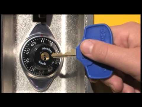 1636MKADA Built-In Combo Lock: Opening w/Key Instructions