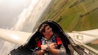 preview picture of video 'GoPro: Glider Acrobatic Flight - First G Experience'