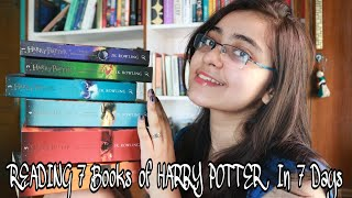 I READ 7 BOOKS OF HARRY POTTER IN 7 DAYS   Vlog