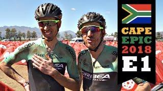 Etapa 1 de la Cape Epic 2018 con Alberto Losada e Ibon Zugasti del equipo Orbea Factory Team.