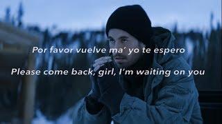 Enrique Iglesias - DESPUES QUE TE PERDI English Lyrics
