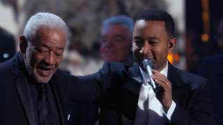 "Bill Withers, Stevie Wonder, John Legend perform ""Lean On Me"" at the 2015 Induction Ceremony"