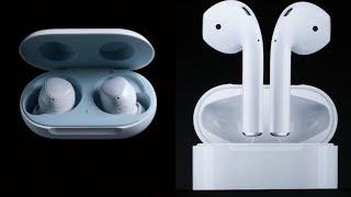 تحدي سماعة Apple AirPods 2 ضد سماعة Samsung Galaxy Buds: من الأفضل!