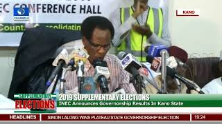 INEC Announces Results Of Kano Governorship Election