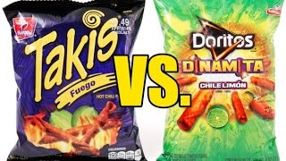 Takis VS. Doritos Dinamita