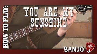 You Are My Sunshine- Basic Banjo Lesson!