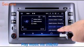 2 Din Radio 2005-2010 Fiat Stilo GPS Sat Nav DVD Player With Touch Screen Audio System