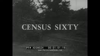 """"""" CENSUS 60 """"  REMINGTON RAND UNIVAC COMPUTER SYSTEM PROMO FILM  1960 U.S. CENSUS  XD38024"""