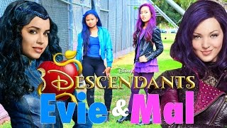 DIY Halloween Costumes: Disneys Descendants Mal & Evie: Makeup, Hair, And Costume 2015!!