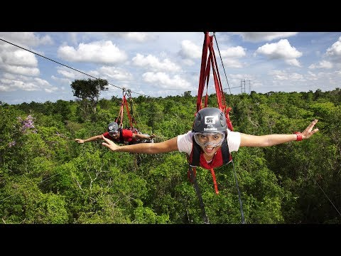 Adventure tour at Selvatica in Play Del Carmen, Mexico