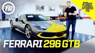 Ferrari 296 GTB: small engine, massive power! Is this 820bhp V6 hybrid a mini LaFerrari? | Top Gear