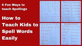 How to Teach Spellings to Kindergarten, UKG, Grade -1 Kids Easily   Teach your Child to Spell Words