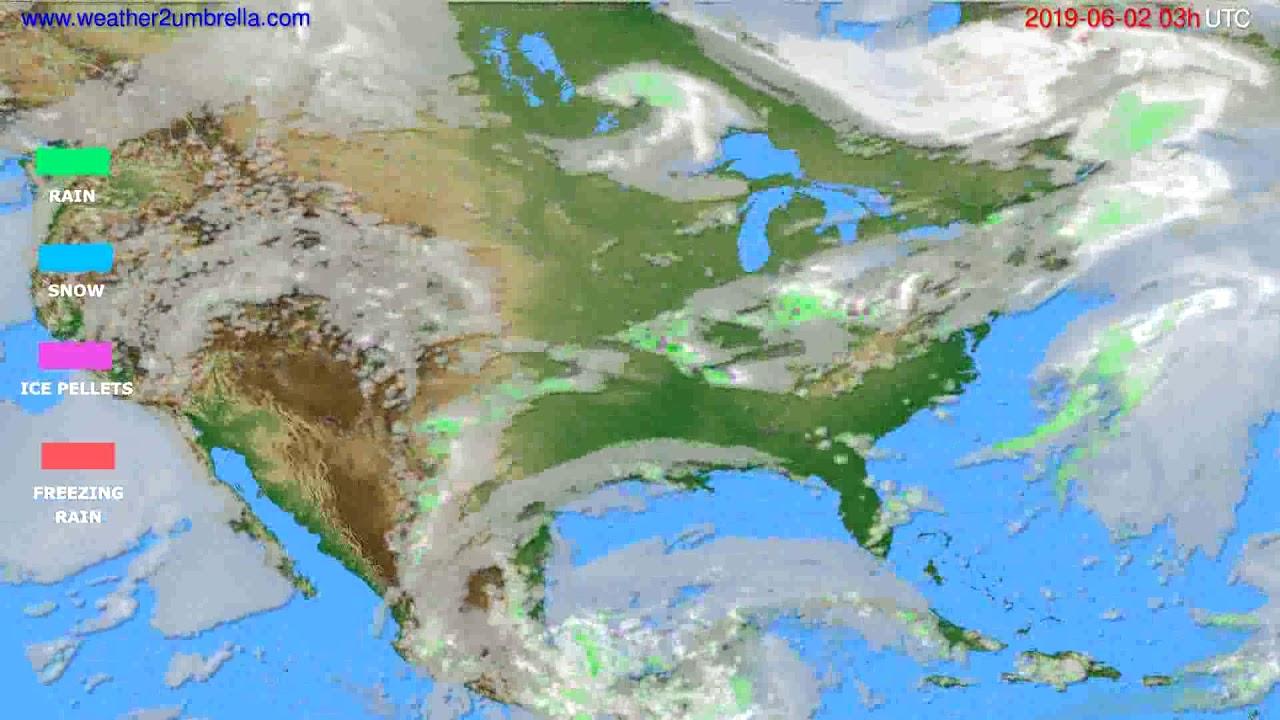 Precipitation forecast USA & Canada // modelrun: 00h UTC 2019-05-30