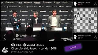 World Chess Championship 2018 day 8 press conference
