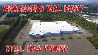 ABANDONED Wal Mart - Drone Footage - Still Has POWER
