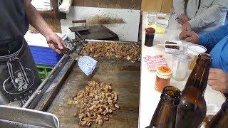 Japanese Street Food 2nd - Grilled Hormones in Nishinari Osaka Japan