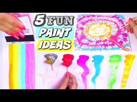 DIY ACRYLIC PAINTING TECHNIQUES // FUN ACTIVITIES WITH PAINT – SoCraftastic