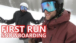 #47 Snowboard begginer – First run of the season