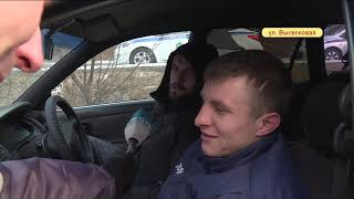 Грузовик разбил «легковушку» в аварии на Выселковой