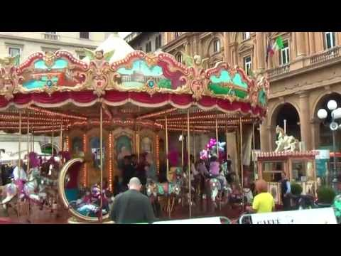 Beautiful carousel in Florence Tuscany Italy carrusel Karussell карусель 旋转木马 回転木馬