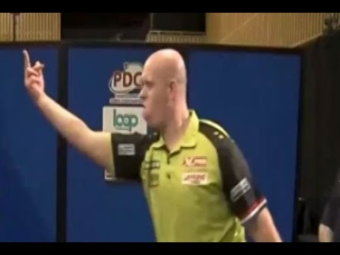 Michael van Gerwen giving the Middle Finger? - 2018 PDC Pro Tour