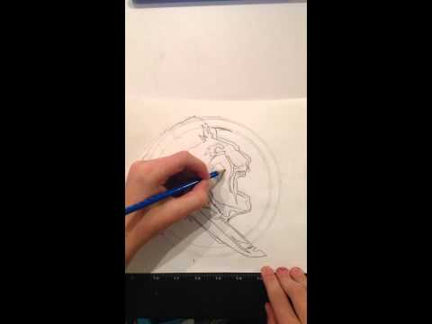 How to draw the Florida State Seminoles logo (time lapse)