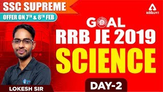 RRB JE 2019   Science   Lokesh Sir   Day 2   1 P.M