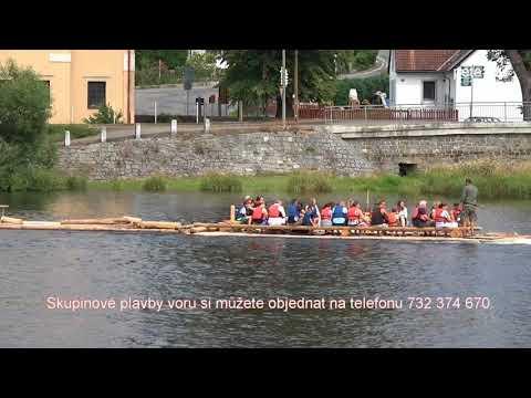 Plavba po Vltavě na voru - Kamýk nad Vltavou