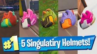 All 5 Singularity Helmet Locations (Unlocks Styles!) - Fortnite Battle Royale
