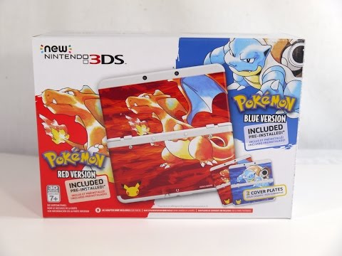 Unboxing: Pokémon Red and Blue Anniversary Edition New Nintendo 3DS
