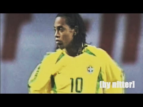 Ronaldinho Show vs South Korea 2002 [by nitter]