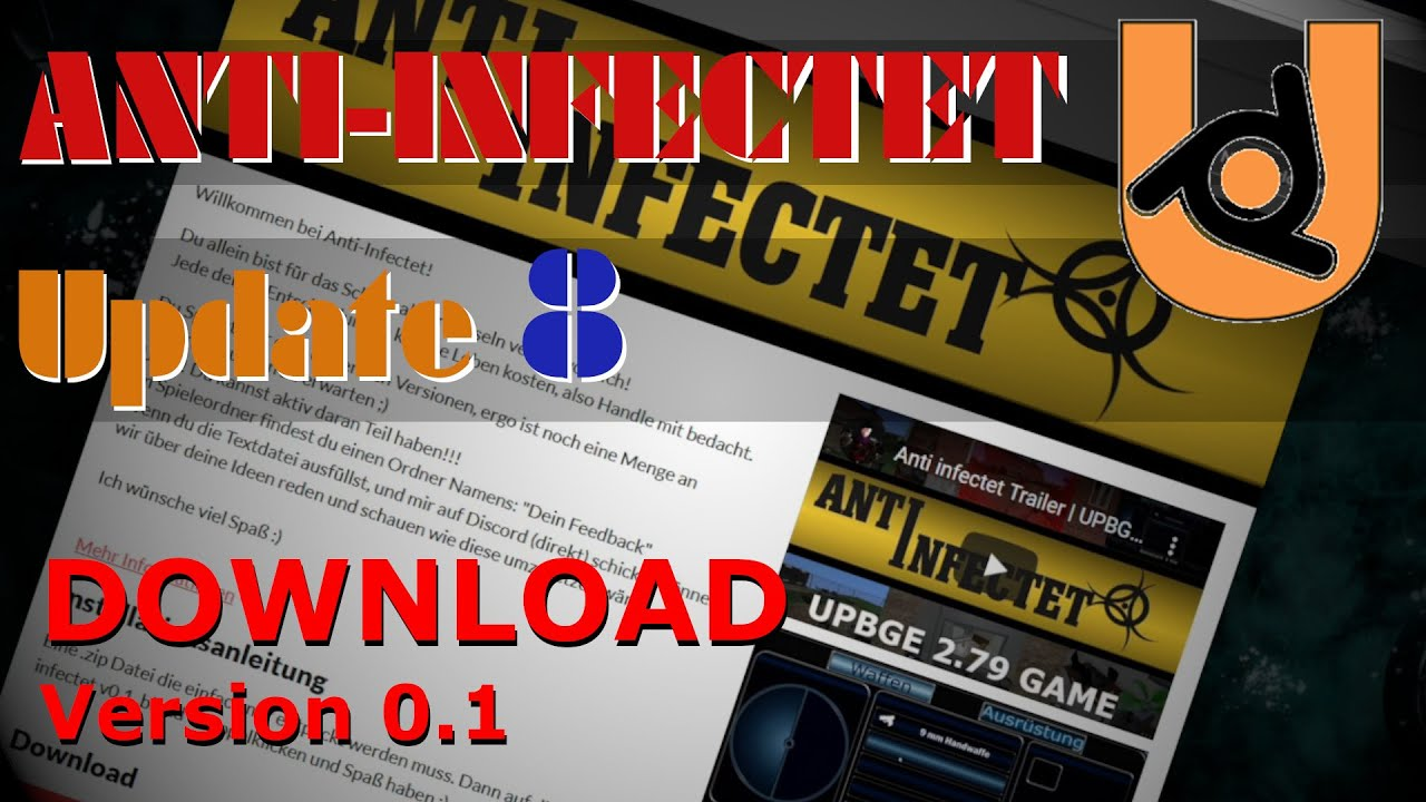 ANTI INFECTET Update 8 [UPBGE 2.79] Blender Game