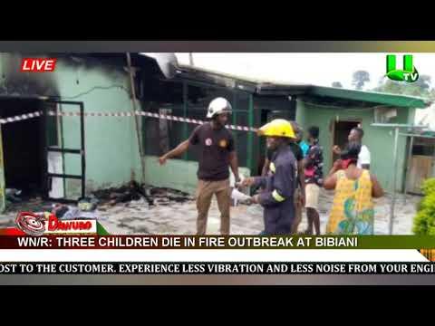 Three Children die in fire outbreak at Bibiani