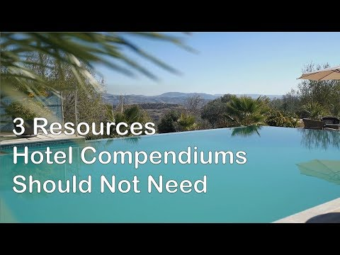 3 Resources Hotel Compendiums Should Not Need