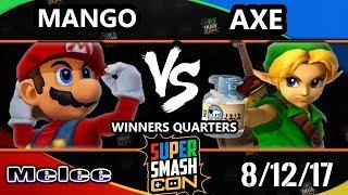 Smash Con 2017 SSBM - C9 | Mang0 (Falco, Mario) Vs. Tempo | Axe (Pikachu, Y.Link) Smash Melee WQ - dooclip.me