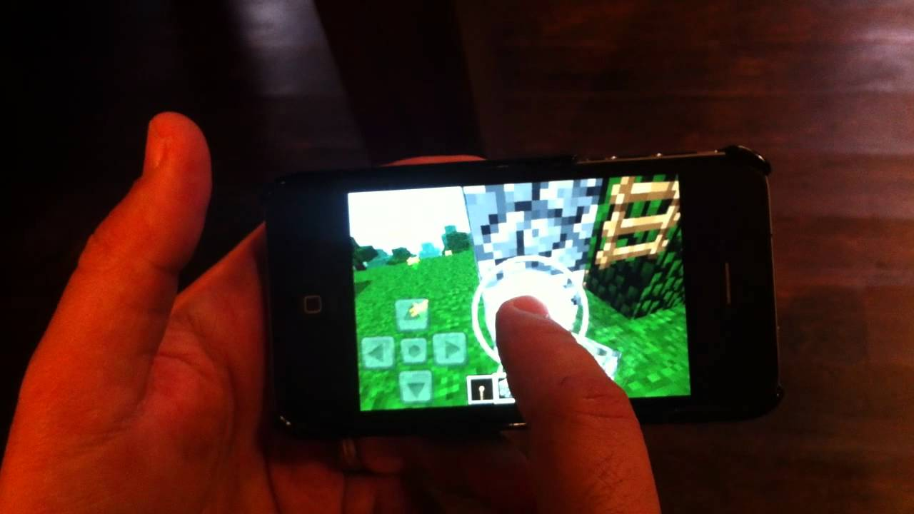 Look It's Minecraft Playing On An iPhone… Sorta